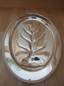 18 Avon Wm Rogers Silver Plate Meat Carving Serving Platter Reservoir Tray 3610