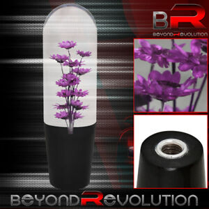 Universal Jdm Vip Poly Shift Knob Flower Filled Purple 150mm Adapters Shifter