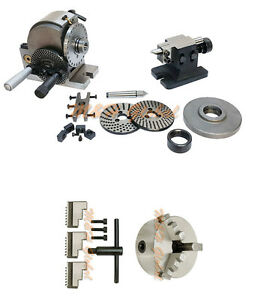 Bs 1 Precision Dividing Head 6 3 Jaw Chuck Semi Tailstock Plates Milling Set