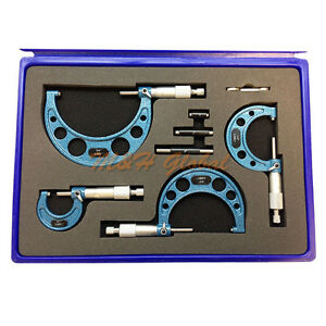 4 Pc C type Outside Micrometer Set 0 1 1 2 2 3 3 4