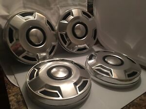 Vintage 87 96 Ford Truck 10 Inch Dog Dish Hubcap Wheel Cover Hub Cap Set Of 4