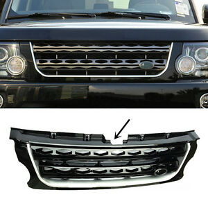 For Land Rover Discovery Lr4 2014 2016 Black Main Body Front Hood Grille Trim