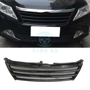 Carbon Fiber Horizontal Stripes Front Grill Grille For Toyota Camry 7th 2012
