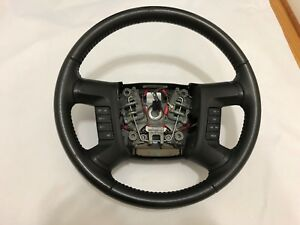 Ford Escape Leather Steering Wheel 2008 2009 2010 2011 2012 Cruise Control Black