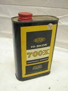 Empty Dupont Hi-Skor Shotshell Gunpowder Tin Powder Shotgun Reloading Ad Can