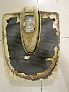 Antique Vntg Bubble Glass Detecto Floor Scale Retro Brooklyn New York Accurate