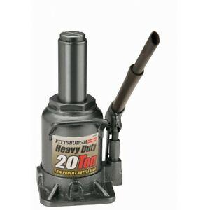 New Pittsburgh Automotive 20 Ton Hydraulic Low Profile Heavy Duty Bottle Jack