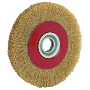 Brass Coated Steel Bristles 8 In Crimped Wire Wheel For Rust And Paint Removal