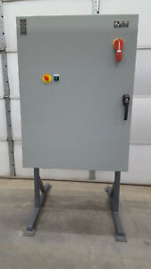 Wiegmann Hubbell Enclosure N124836123ptc 36 x 48 x 12 Electrical Box On Stand