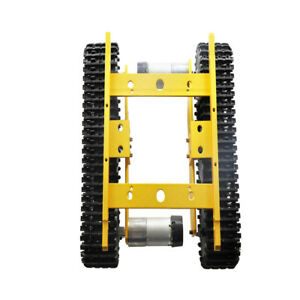 Golden 12v Smart Robot Rc Car Tracked Tank Chassis Car Parts With Code Wheel