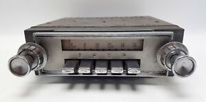 Vintage 1964 Ford Galaxie Car Radio Fomoco Push Button Am 12v 4tmf 1
