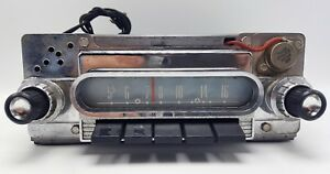Vintage Used 1960 Ford Car Galaxie Fairlane Am Radio Assembly 04bf
