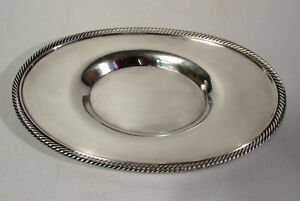 Vintage Poole Silver Co Silverplate Epns 8 X 5 Oval Serving Tray