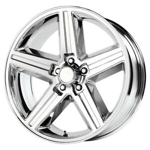 4 new 18 Inch Replica V1129 Iroc 18x8 5x4 75 0mm Chrome Wheels Rims