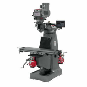 Jet 691203 Jtm 4vs Mill 3 axis Newall Dp700 Dro quill X Y axis Powerfeed