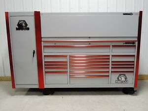 Matco Tools Silver Red Trim Triple Bank Tool Box Hutch Locker