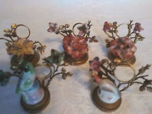Antique Lot Of French Porcelain Place Card Settings
