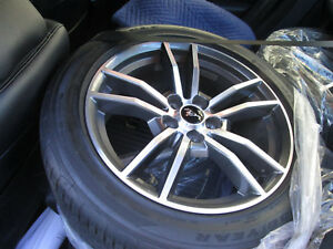 2015 16 1718 Ford Mustang Premium Wheels Rims Oem Tires W tpms Ready To Install