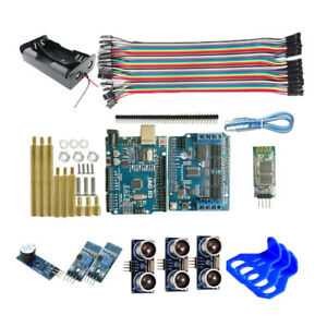Bt Ultrasonic Distance Sensor Uno R3 Controller Board Kit For Arduino Robot
