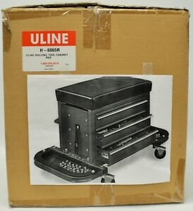 Uline Mechanics Red Rolling Tool Chest Seat H 6065r