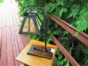 Antique Arts Crafts Table Lamp W5240 Gustav Stickley Style