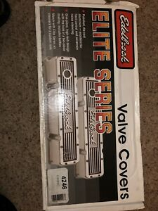 Engine Valve Cover Set Elite Series Edelbrock 4246