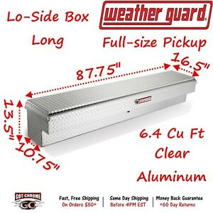 164 0 01 Weather Guard Aluminum Lo side Mount Box 87 Truck Toolbox