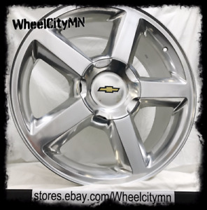22 Inch Polished Chevy Tahoe Silverado Suburban Ltz Oe Replica Wheels 6x5 5 31