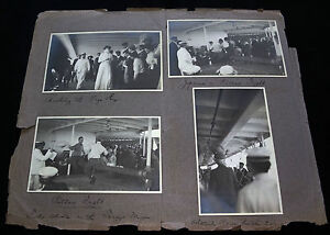 8x 1910 Bw Photographs Of Cruise From Us Mainland To Hawaii Games P254