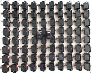 Lot Of 82 Carling Switch Ra901 T85 Panel Mount Snap in Rocker 16a 125v 10a 250v