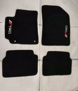 Fit For 2007 2011 Toyota Corolla Black Floor Mats W emblem
