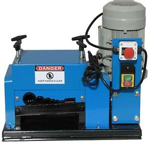 New Wire Stripping Machine 2hp 110v Cable Copper Stripper Recycler Scrap Qj 009