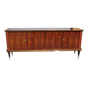 Fine French Art Deco Exotic Macassar Ebony Sideboard Buffet Bar Circa 1940s