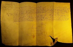 King Louis Xiv Autograph On Large Parchment Signed By Our Hand Military 1706
