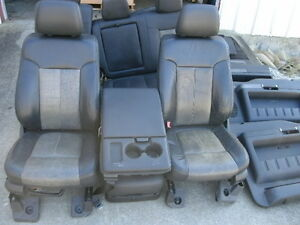 11 Ford F 250 Super Duty Lariat Ultimate Leather Seats Door Panels Console Trim
