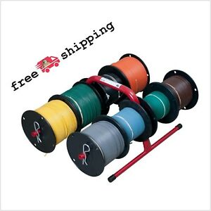 Reel Holder Cable Wire Spool Management Hand Caddy Organizer Steel Lightweight