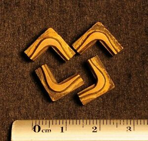 4 X Art Nouveau Ornament Bookbinding Brass Type Letterpress Hot Stamp Edges Edge