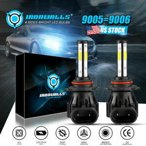 2018 Cree Led Headlight Kit Hb4 9006 1900w 6000k 285000lm Light Bulbs Pair Hid