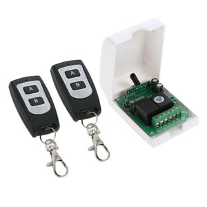 Rf Relay Remote Control Light Momentary Switch 2 Transmitters With Receiver