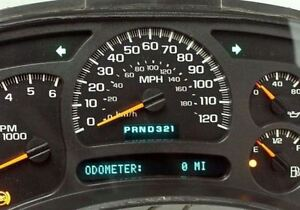 0 miles 2005 Chevy Silverado Reman Instrument Panel Cluster Speedometer