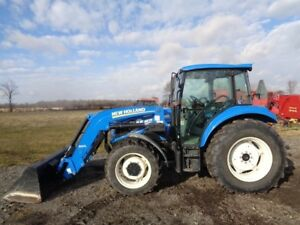 2012 New Holland T4 75 Tractor Cab heat air 4wd Nh 655tl Loader 611 Hours