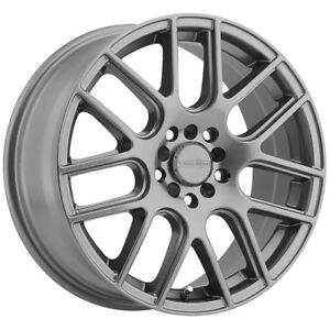 4 14 Inch Vision 426 Cross 14x5 5 5x100 5x114 3 38mm Gunmetal Wheels Rims