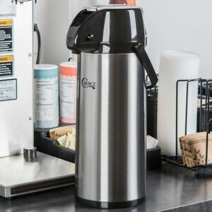 2 5 Liter Coffee Air Pot Stainless Steel Airpot Glass Lined Commercial Grade