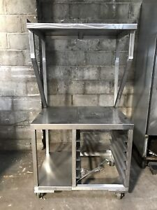 36x27 Stainless Steel Equipment Stand Table W Over Shelf
