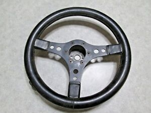 Vintage Raid Custom Black Steering Wheel 13 3 Spoke Fits Grant Style Adapter