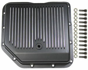 Chevy Black Finned Aluminum Turbo 350 Transmission Pan Cbc Th 350 Th350 Trans