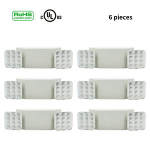 6pcs Square Led Emergency Exit Light Room Wall Light White Fixture Adjustable