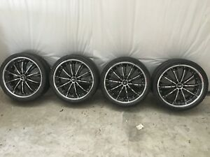 Ford Mustang Wheels And Tires 20x8 5 Motiv Chrome Wheels Bfg Tires