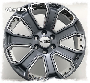 20 Inch Gunmetal Chrome Inserts 2017 Gmc Denali Oe Replica Wheels 5660 6x5 5 31