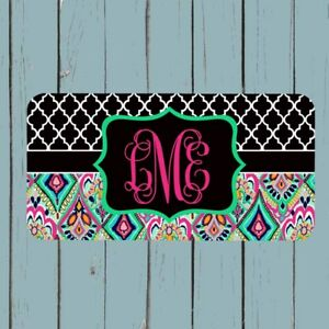 Personalized License Plate Monogram Lilly Pulitzer Inspired Car Tag
